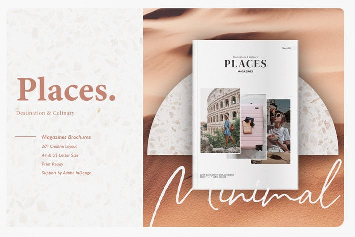 Thumbnail for Place Magazine Template
