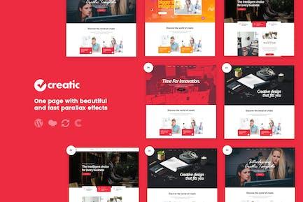 Creatic - One Page Parallax WordPress