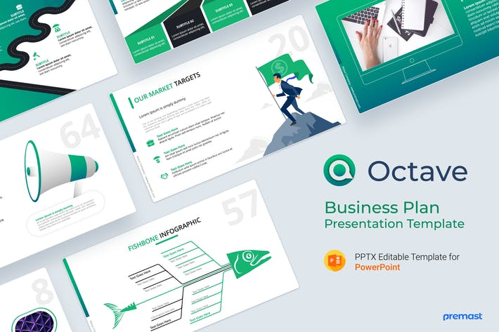 Thumbnail for Octave Business Plan PowerPoint Template