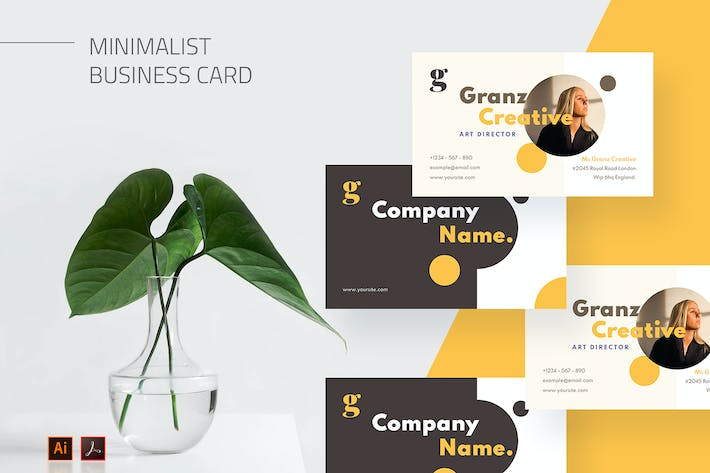 Mytemp - Minimalist Business Card v10