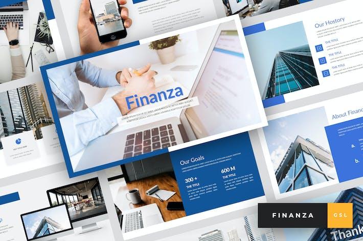 Thumbnail for Finanza - Finance Google Slides Template