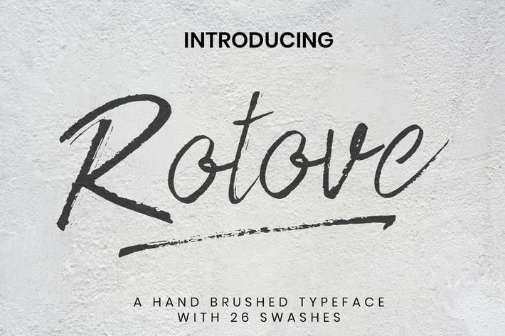 Thumbnail for Rotove - Brush Font