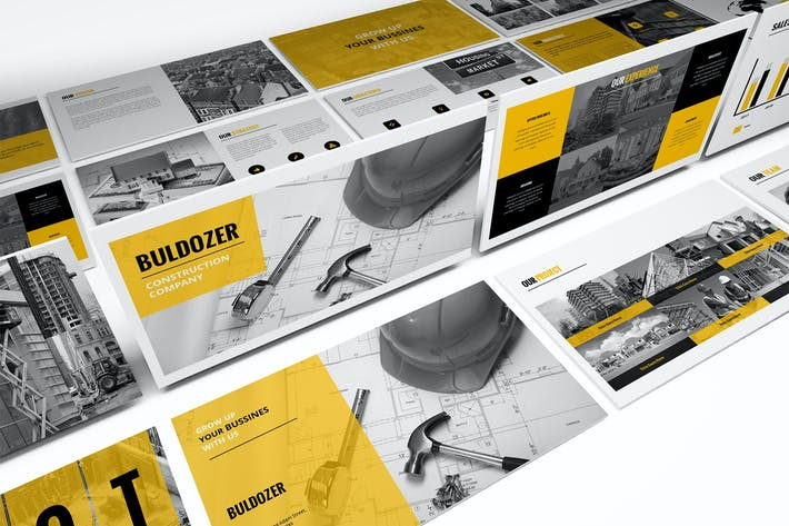Thumbnail for Buldozer - Construction Powerpoint Template