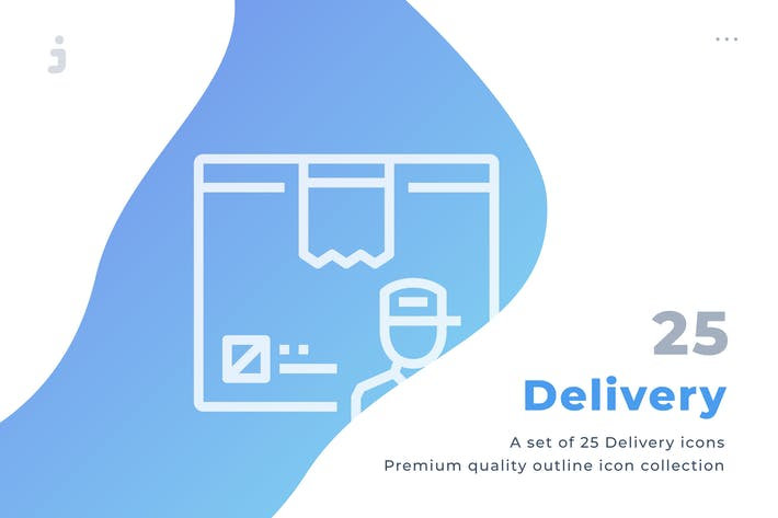 Thumbnail for 25 Delivery icon set
