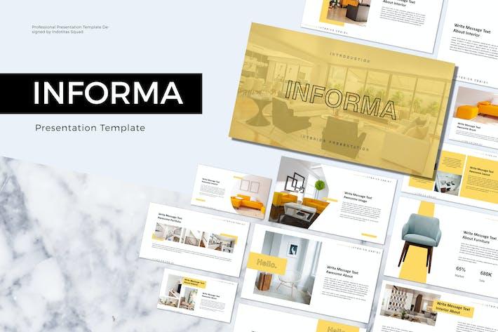 Thumbnail for INFORMA-Vorlage für Keynote