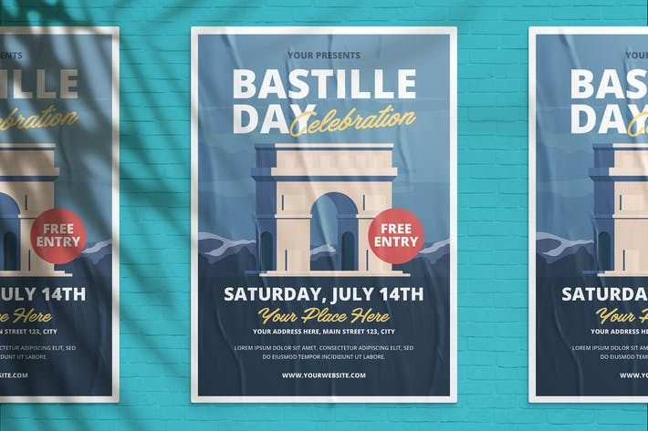 Thumbnail for Bastille Day Celebration Flyer