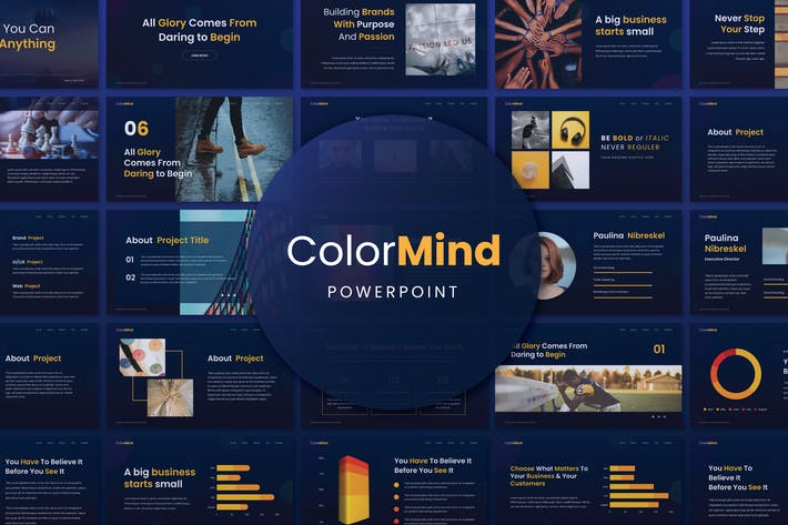 Thumbnail for ColorMind Creative Powerpoint Presentation