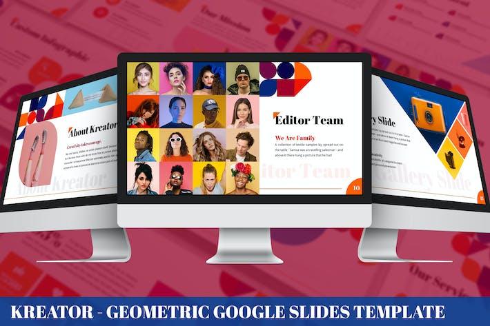 Kreator - Geometric Google Slides Template
