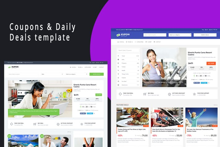 Cover Image For KUPON - Deals & Discounts - Material Design