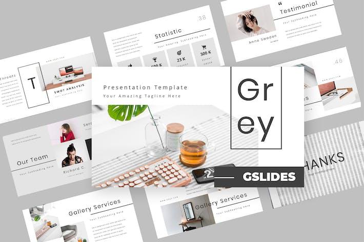 Thumbnail for Серый - Мода Google слайды Презентация