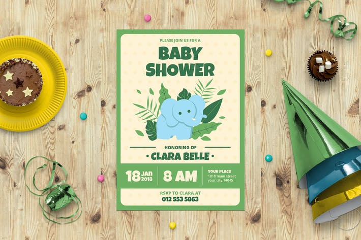 Thumbnail for Baby Shower Invitation