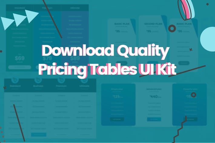 Thumbnail for Download Quality Pricing Tables UI Kit Web element