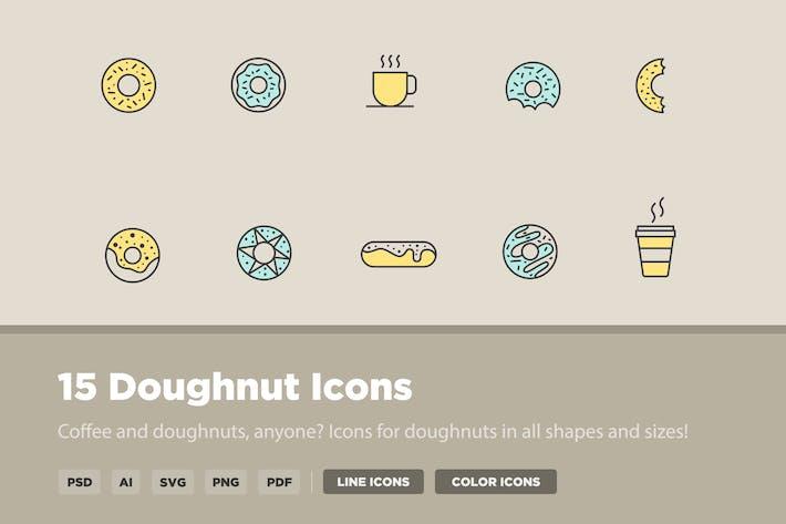 Thumbnail for 15 Doughtnut Icons