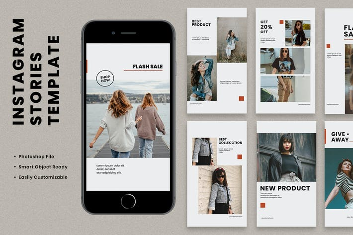 Thumbnail for BMS Fashion Instagram Stories Template