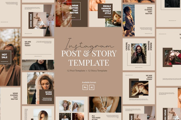 Thumbnail for Elegant Beauty Company Instagram Template