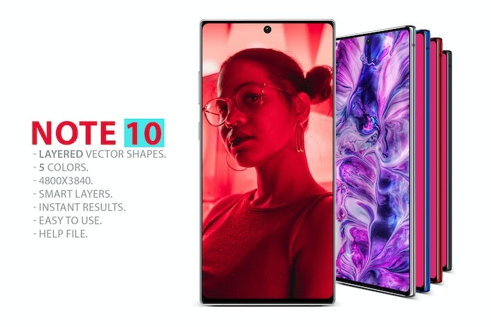 Thumbnail for Note 10 Layered PSD MockUps
