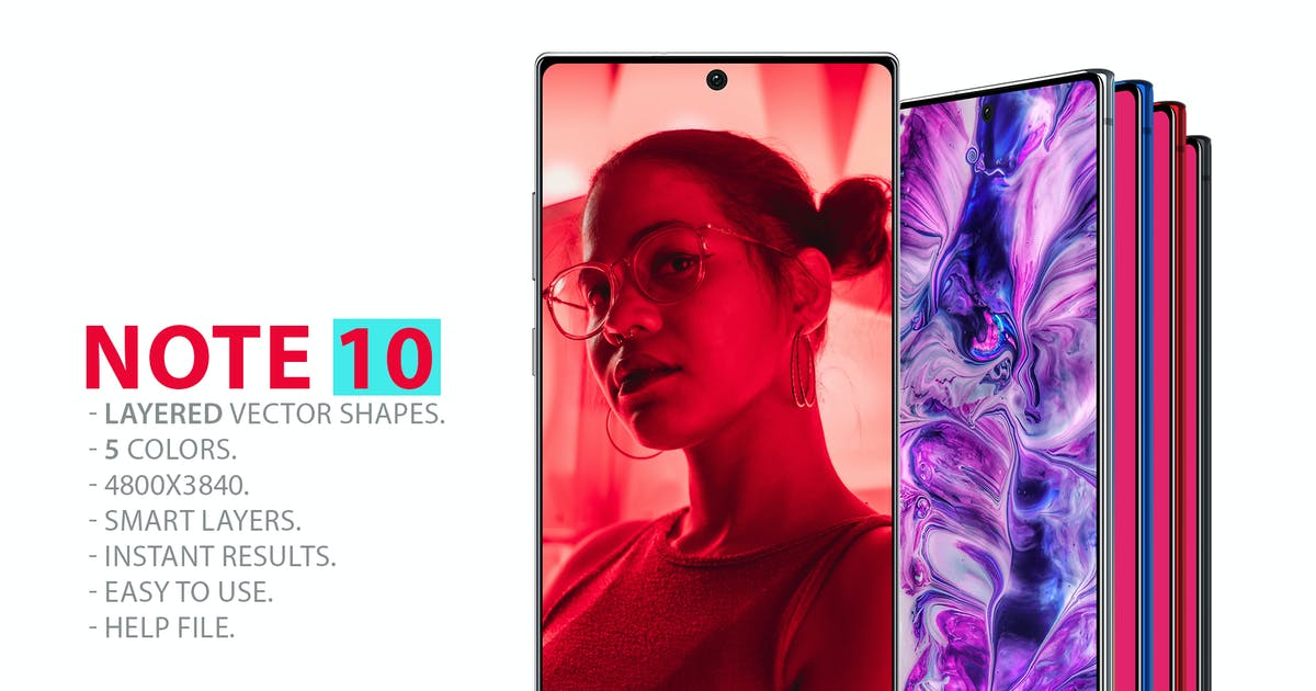 Download Note 10 Layered PSD MockUps by Abdelrahman_El-masry