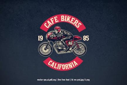 vintage cafe racer motorcycle club logo