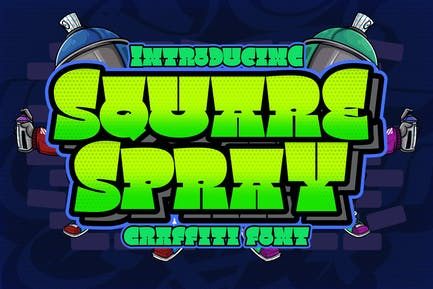 Square Spray Graffiti Font