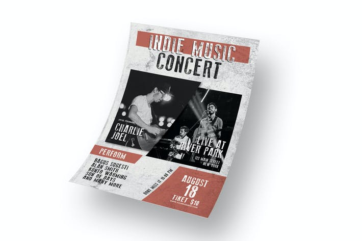 Thumbnail for Indie Music Concert - Flyer RZ