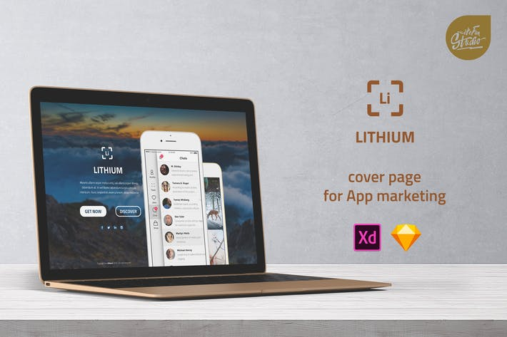 Thumbnail for Lithium - Cover Page for App Marketing UI Template