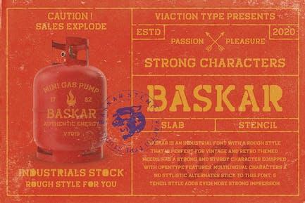 Baskar Stencil - Vintage Font