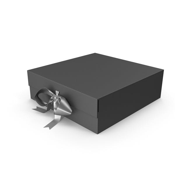 Black Box with Silver Ribbon