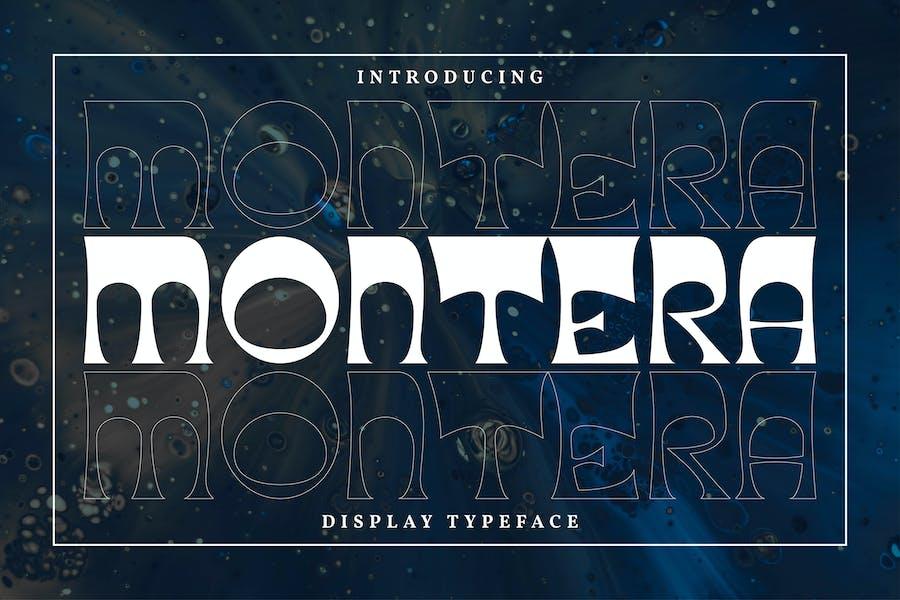Montera | Display Typeface Font