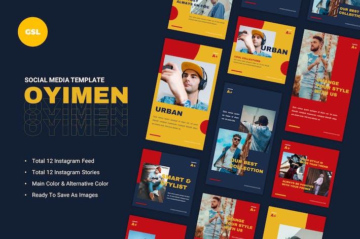 Thumbnail for Oyimen Social Media Google Slides