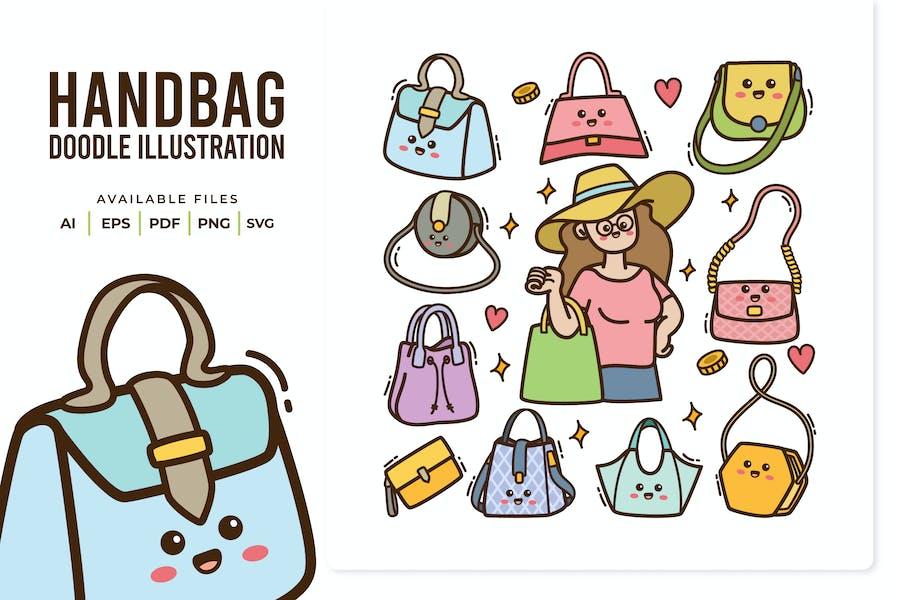 Handbag Doodle Illustration