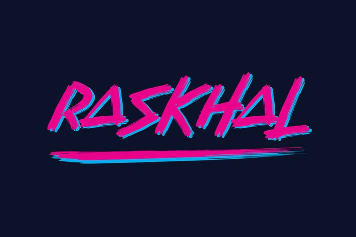 Thumbnail for Raskhal - Brush Font