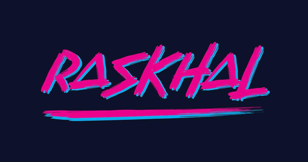 Download Raskhal - Brush Font by sigitdwipa