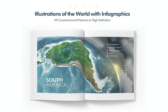 Cover Image For 3D Illustrations of the Earth World Infographics