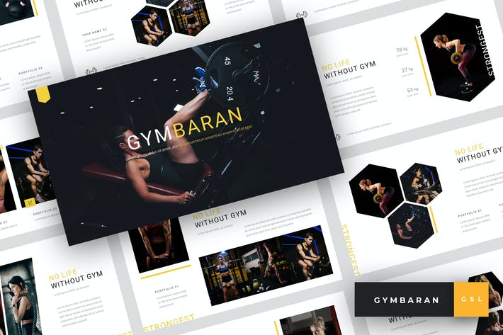 Thumbnail for Gymbaran - Gym Google Slides Template