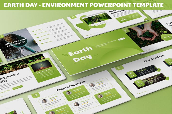 Thumbnail for Earth Day - Environment Powerpoint Template