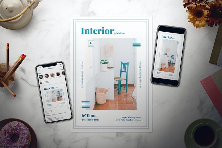 Thumbnail for Modern Interior Flyer Set