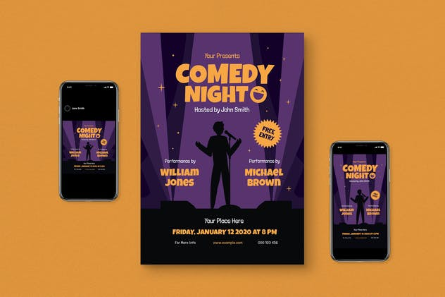 Comedy Night Flyer Pack
