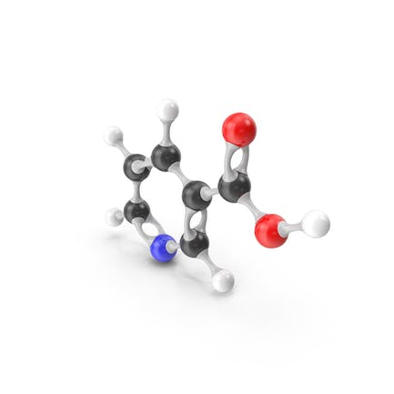 Niacin (Vitamin B3) Molecular Model