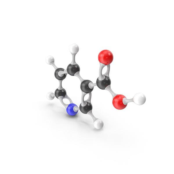Ниацин (витамин В3) Молекулярная модель