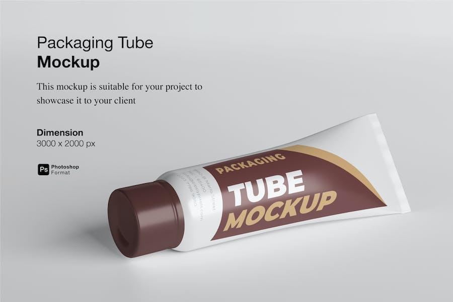 Packaging Tube Mockup