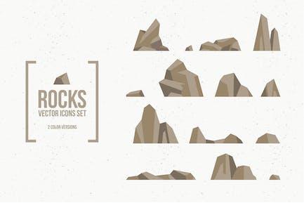 Rocks and Stones Icon Set
