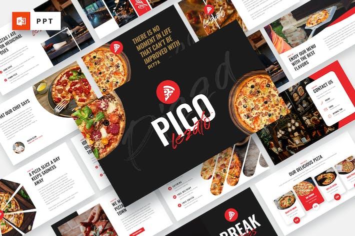 Thumbnail for Pico Lezato - Pizza Powerpoint Template