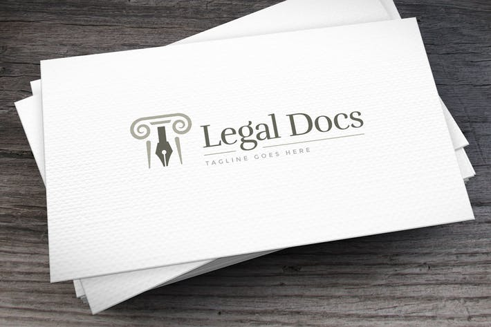 Thumbnail for Legal Docs Logo Template