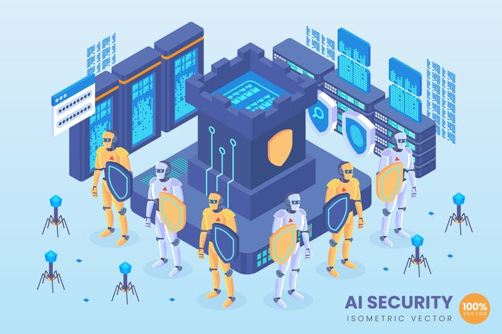 Thumbnail for Isometric Artificial Intelligence Security Vector