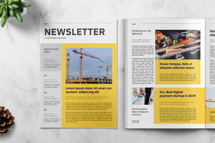 Thumbnail for Cleo Business Newsletter Template