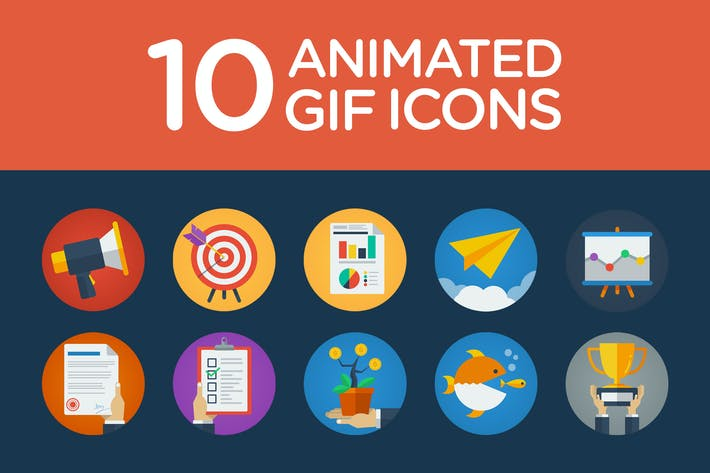Thumbnail for Flat Animated Icons