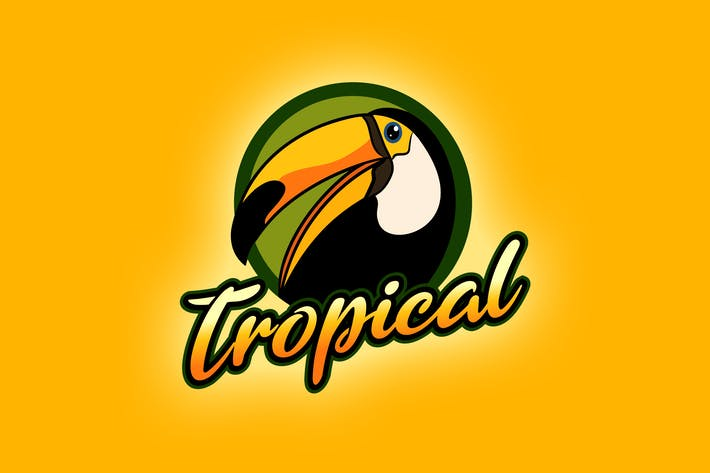 Thumbnail for Tropical Toucan Bird Mascot Logo