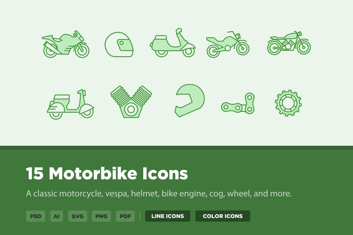Thumbnail for 15 Motorbike Icons