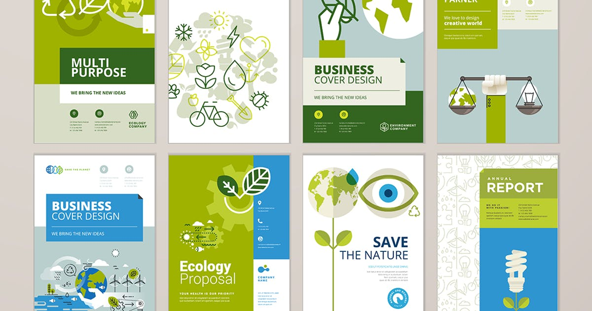 Download Brochure cover design and annual report templates by PureSolution
