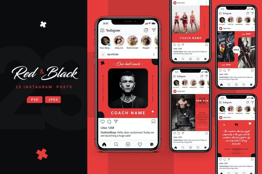 Red&Black – Sport Instagram Posts